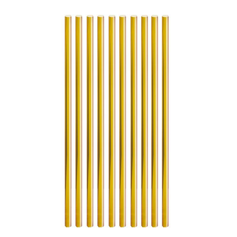 Canudo de Papel Liso Dourado (20 uni) - Cromus