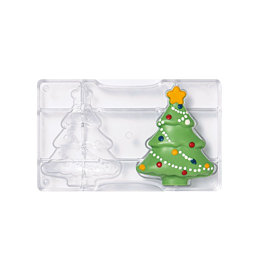 Forma de Chocolate em Policarbonato Árvore de Natal Grande - Decora