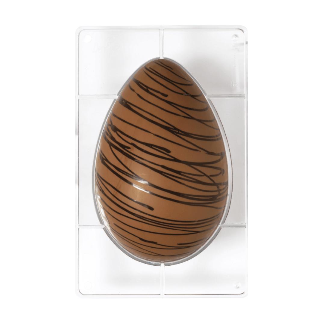 Forma de Chocolate em Policarbonato Ovo de Páscoa (23,0cm) - Decora