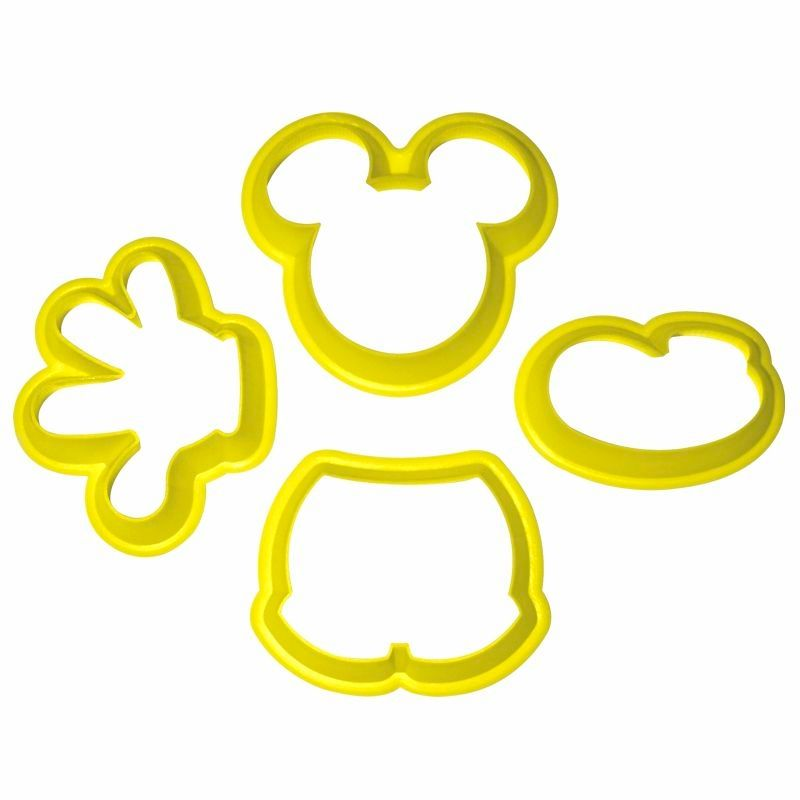 Kit Cortadores Roupa do Mickey - BlueStar