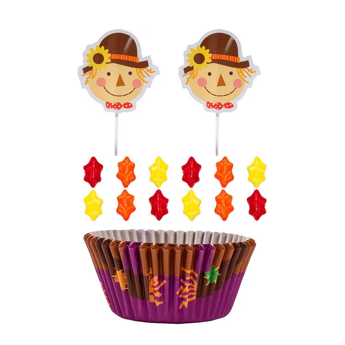 Scarecrow Cupcake Decorating Kit - Wilton