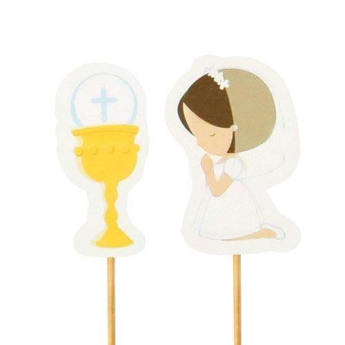 Enfeite Primeira Comunhão Menina (12uni) - Papel Confeito