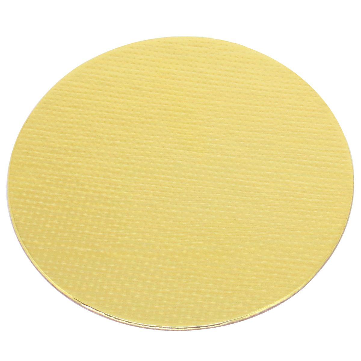 Base Laminada Redonda Dourada para Bolos 35,0cm (5uni)