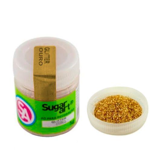 Glitter em Pó para Decoração Ouro (5g) - SugarArt
