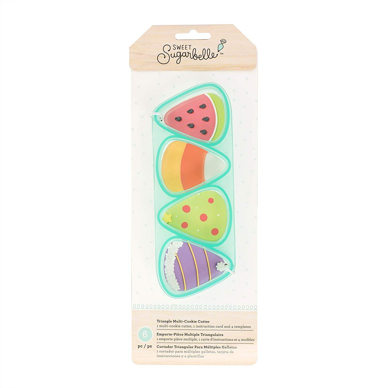 Kit de Cortador Múltiplo e Stencil Triângulos (6pcs)- Sweet Sugarbelle