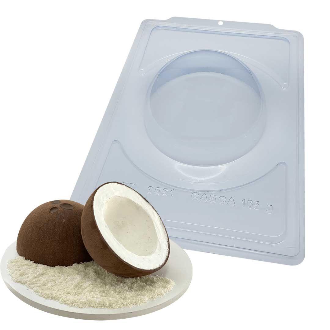 Forma de Chocolate Acetato com Silicone Esfera 15cm 165g - BWB Premium