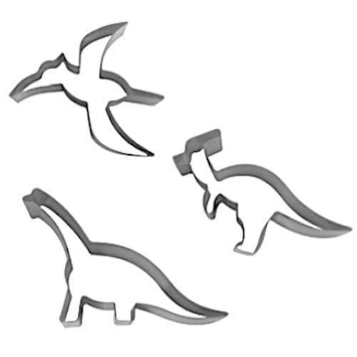 Kit Cortadores Dinossauros 3 - RM
