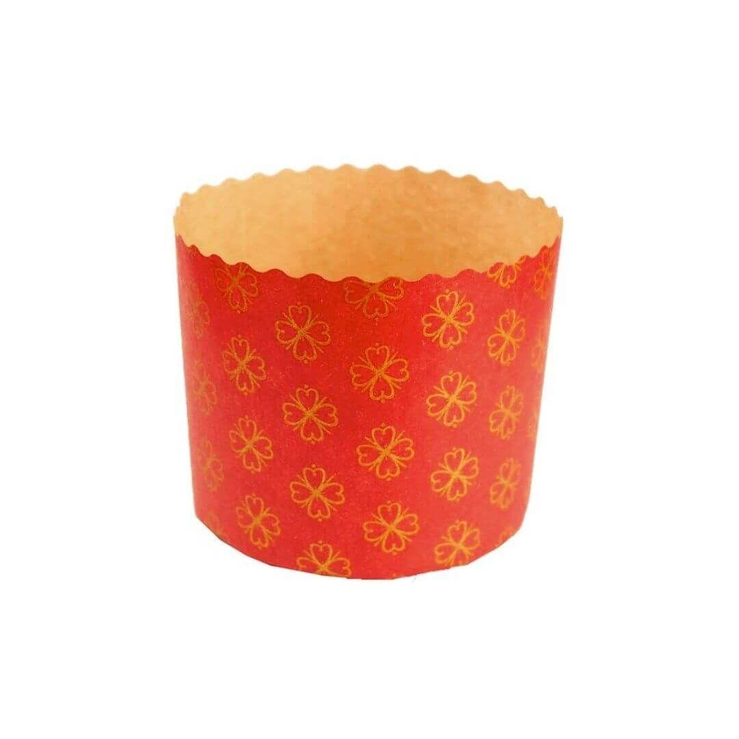 Forma para Panetone 250g Vermelho (12uni) - Sulformas
