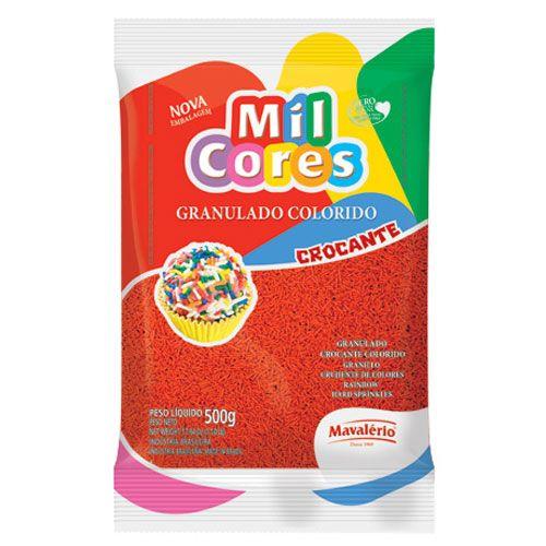 Granulado Crocante Vermelho 500g - Mil Cores