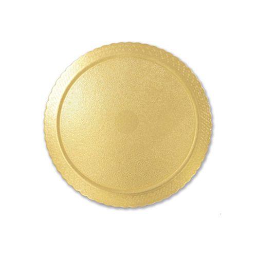 Base para Bolo Cakeboard Redonda Ouro 26cm (10uni) – Ultrafest