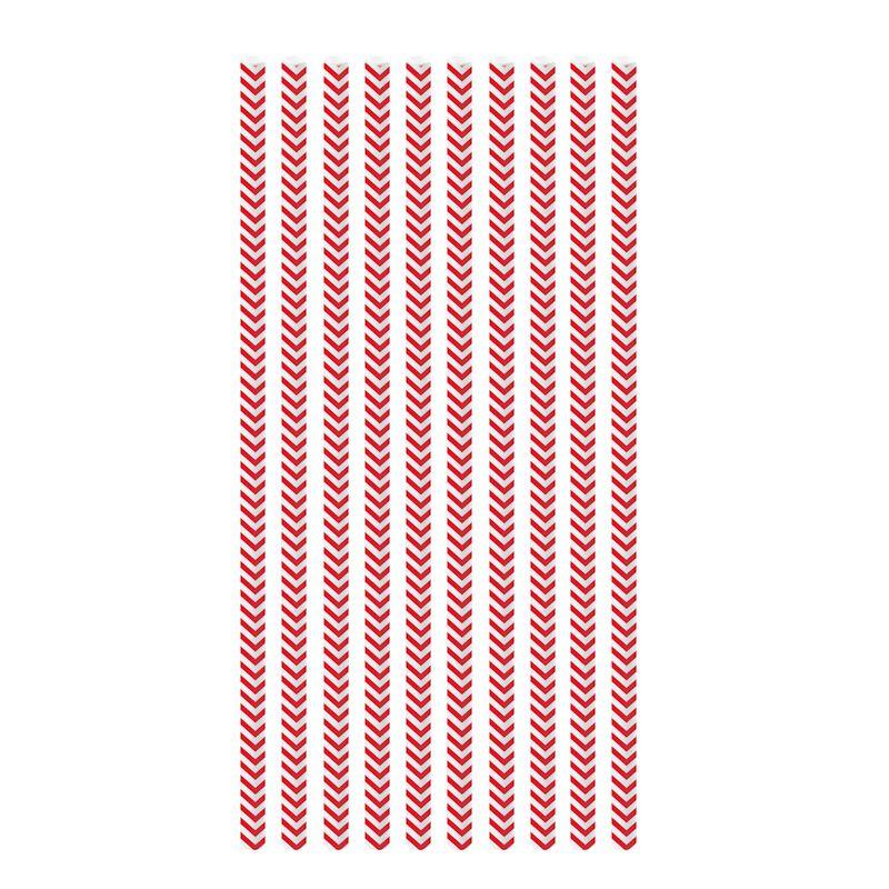 Canudo de Papel Missioni Vermelho (20 uni) - Cromus