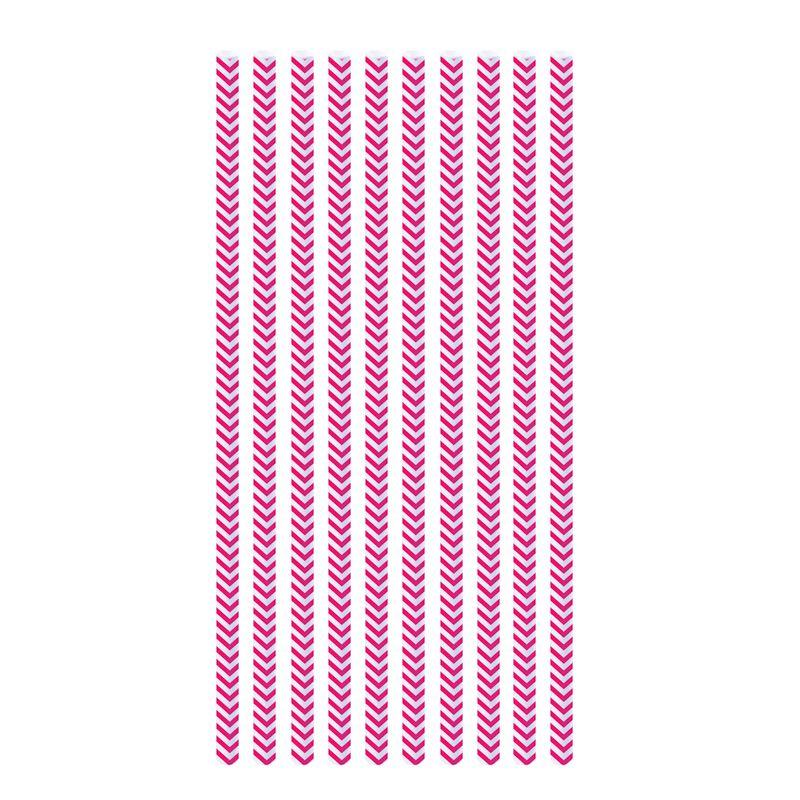 Canudo de Papel Missioni Pink (20 uni) - Cromus