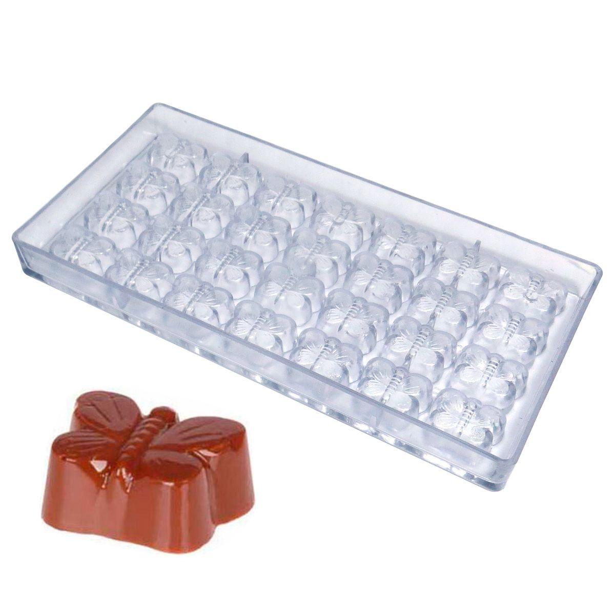 Forma de Chocolate em Policarbonato Borboleta - Gramado Injetados