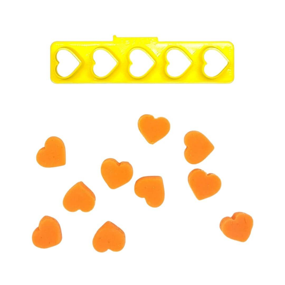 Régua Cortadores Miniatura Corações - Imprimire 3D