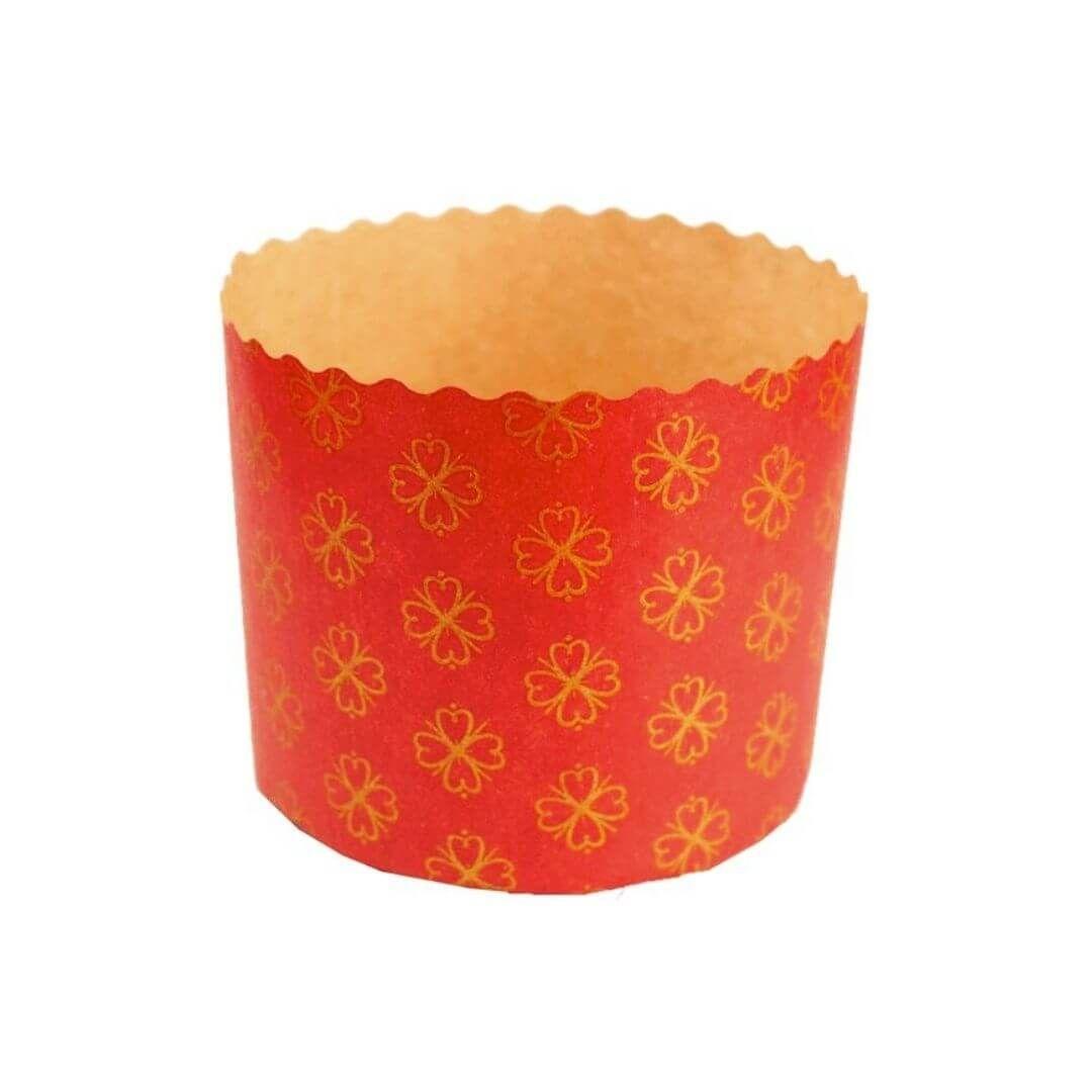 Forma para Panetone 500g Vermelho (12uni) - Sulformas