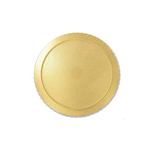 Base para Bolo Cakeboard Redonda Ouro 24cm (10uni) - Ultrafest