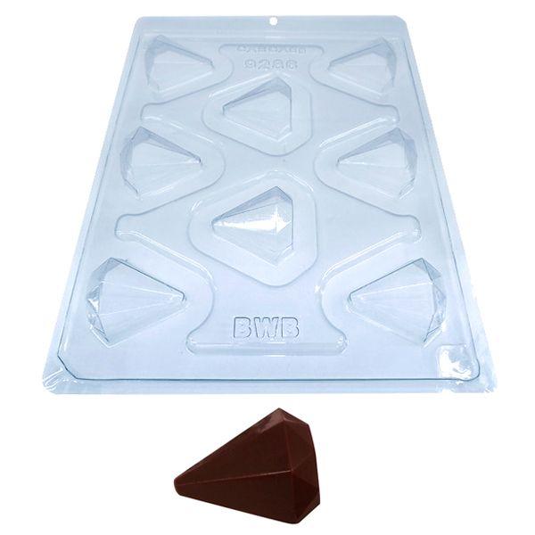 Forma de Chocolate Acetato com Silicone Diamante (5g) - BWB