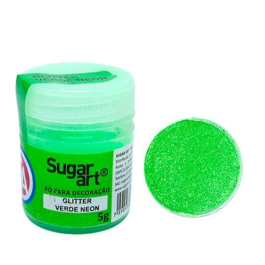 Glitter em Pó para Decoração Verde Neon (5g) - SugarArt