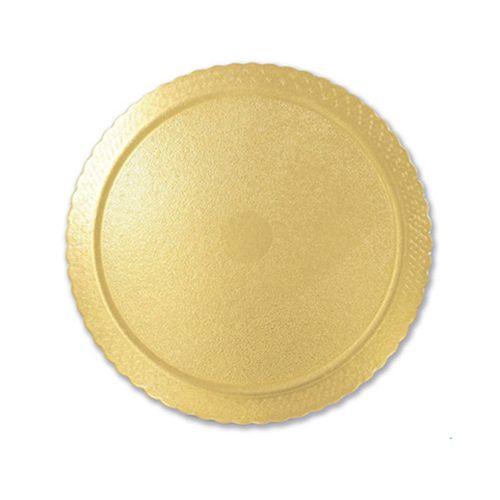 Base para Bolo Cakeboard Redonda Ouro 28cm (10uni) – Ultrafest
