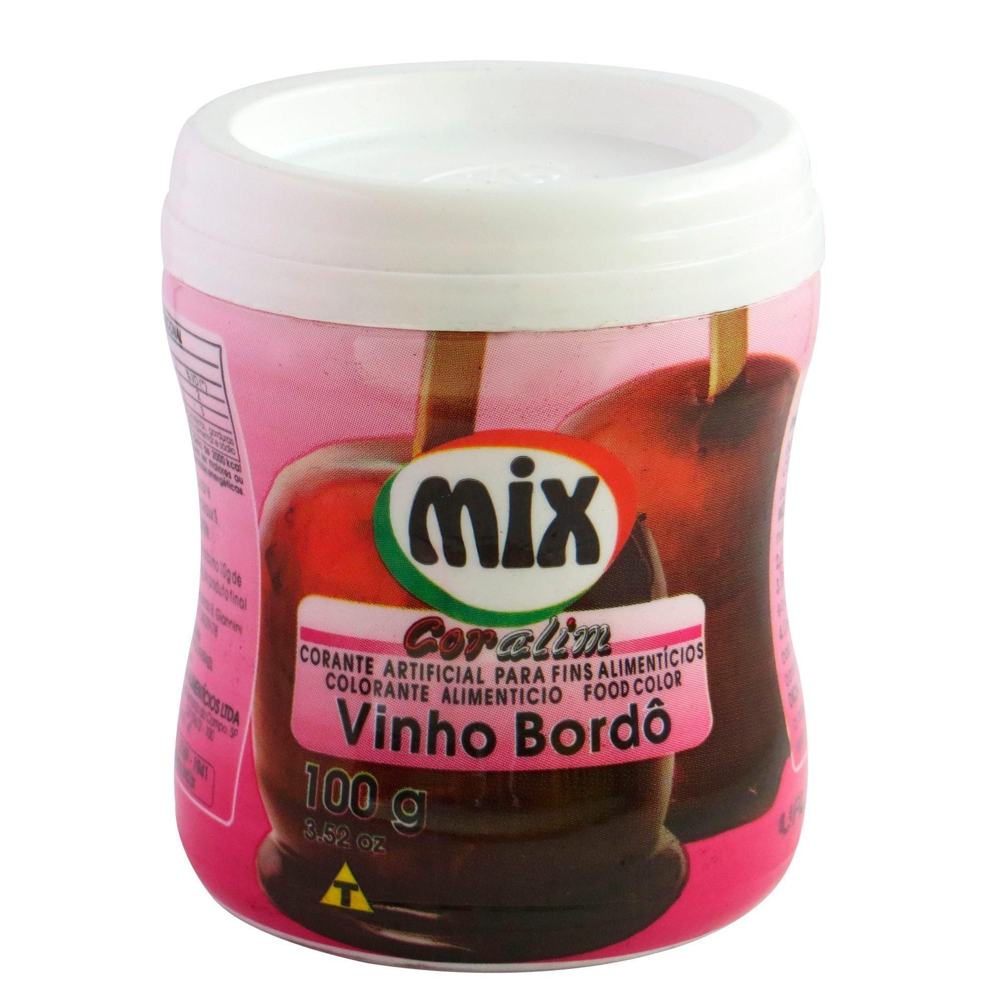 Corante em Pó Coralim Mix 100g - Vinho Bordô