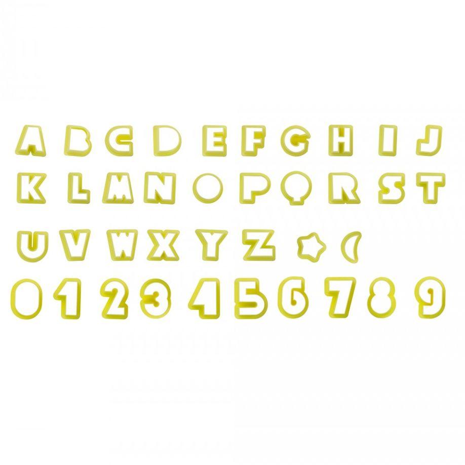Conjunto Cortadores Alfabeto Letras e Números (2,0cm) - BlueStar