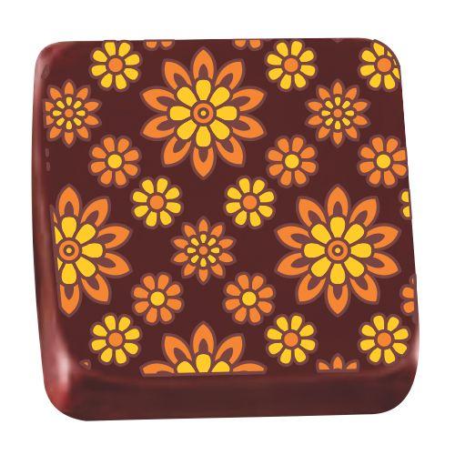 Transfer para Chocolate (40 x 30cm) - Margarida Amarela