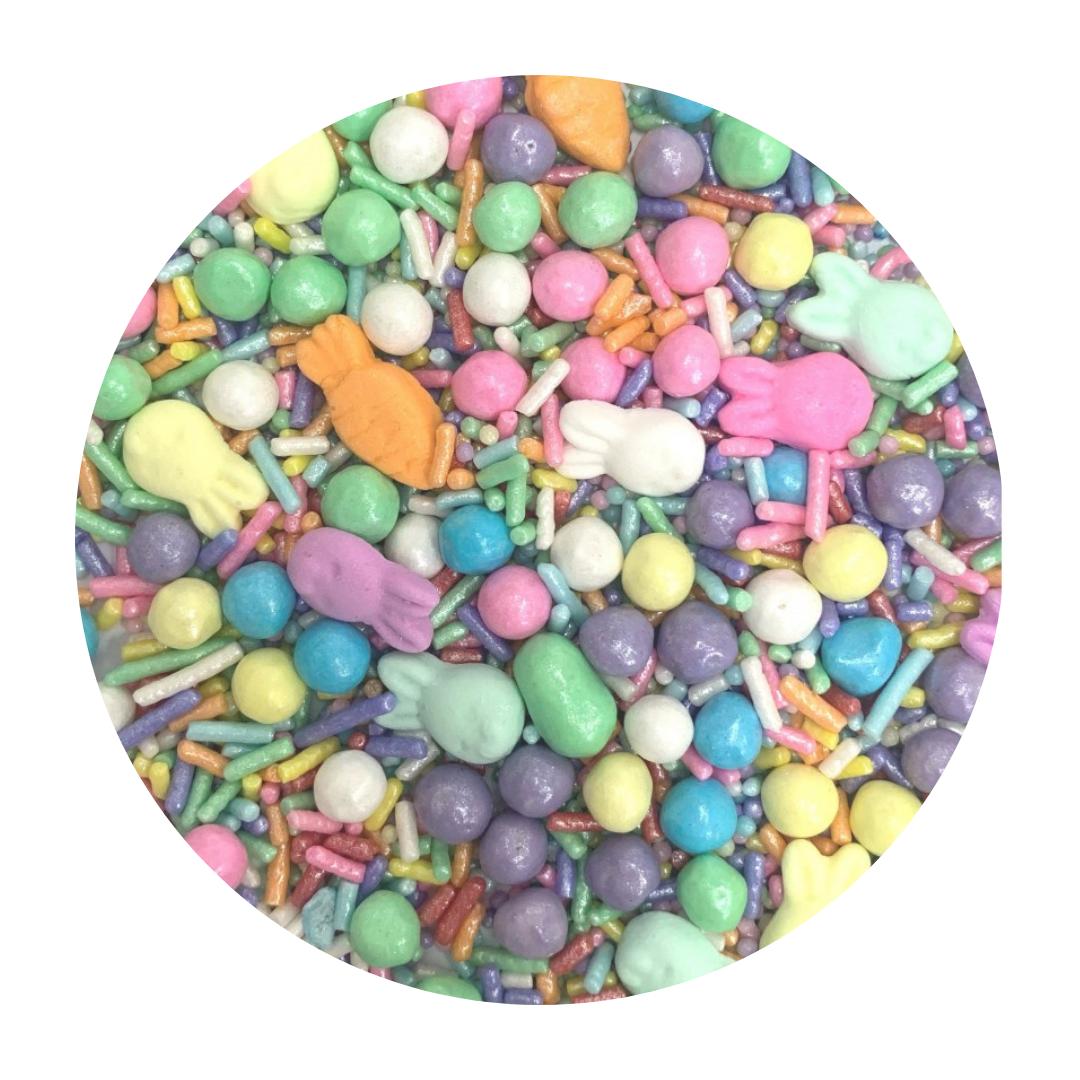 Enfeite de Páscoa em Açúcar Sprinkles Páscoa 2 (50g) - Jady Confeitos