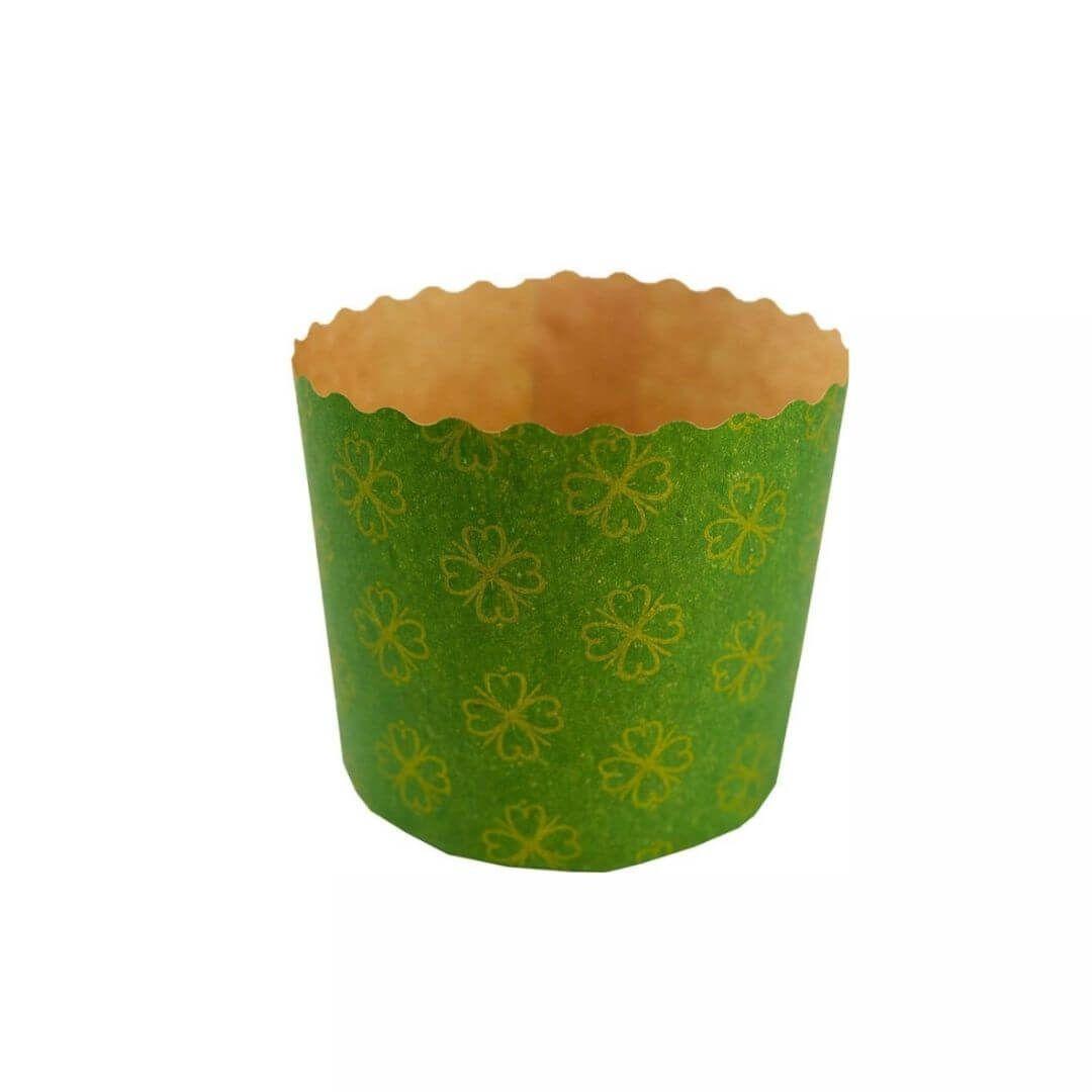 Forma para Panetone 250g Verde (12uni) - Sulformas
