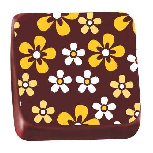 Transfer para Chocolate (40 x 30cm) - Violeta Amarela
