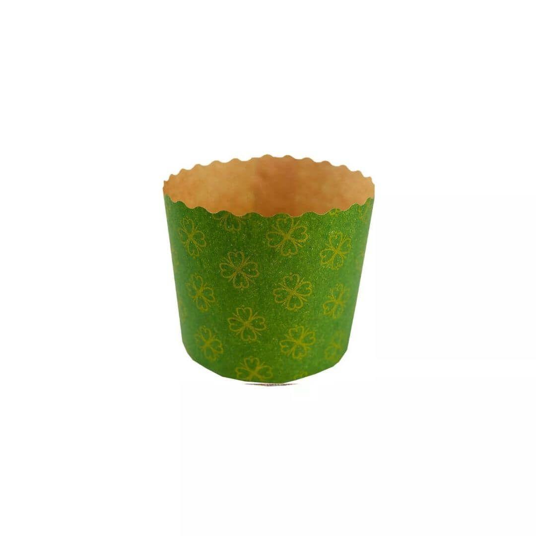 Forma para Panetone 100g Verde (12uni) - Sulformas