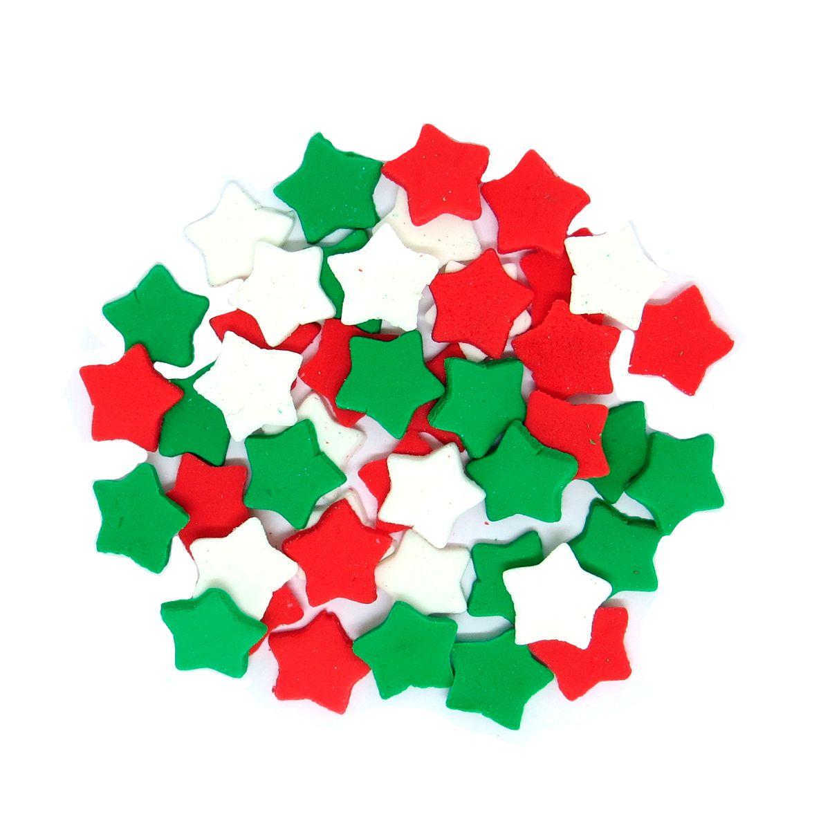 Enfeite de Natal em Açúcar Estrela (15g) - Jady Confeitos