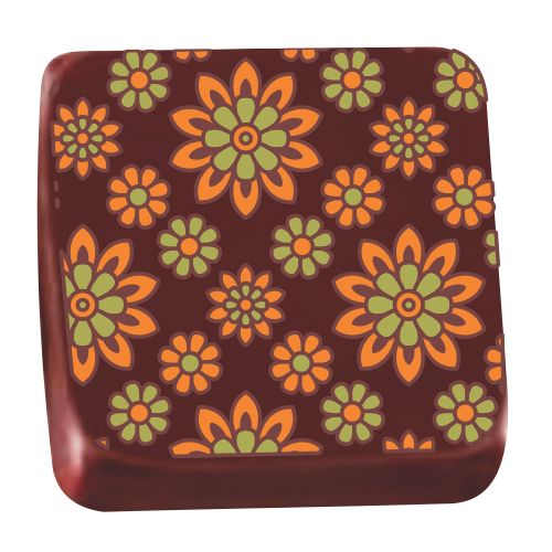 Transfer para Chocolate (40 x 30cm) - Margarida Verde