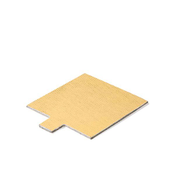 Base Laminada Quadrada Dourada para Doces 4,0cm (25uni)