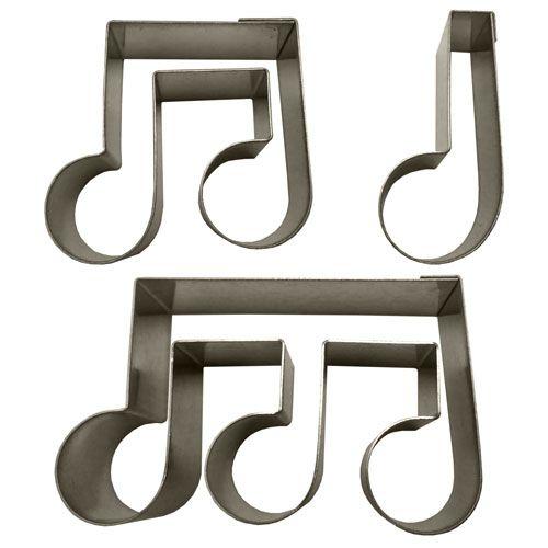 Kit Cortadores - Notas Musicais