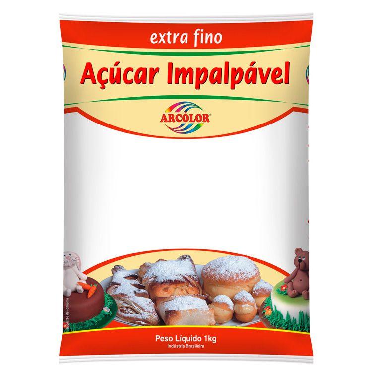 Açúcar Impalpável Extra Fino 1kg - Arcolor