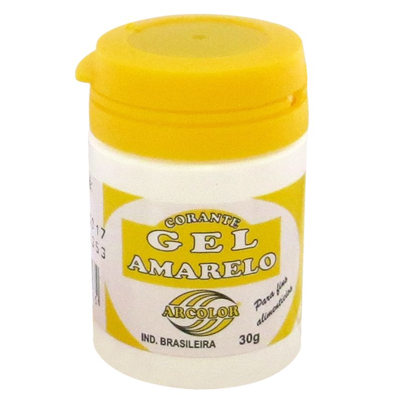 Corante gel Arcolor 30ml - Amarelo