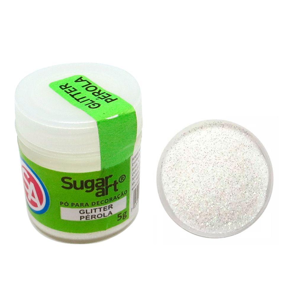 Glitter em Pó para Decoração Pérola (5g) - SugarArt