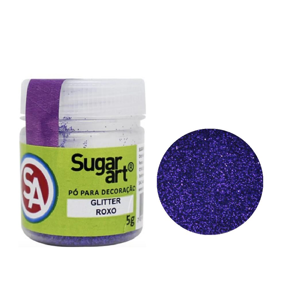 Glitter em Pó para Decoração Roxo (5g) - Sugar Art