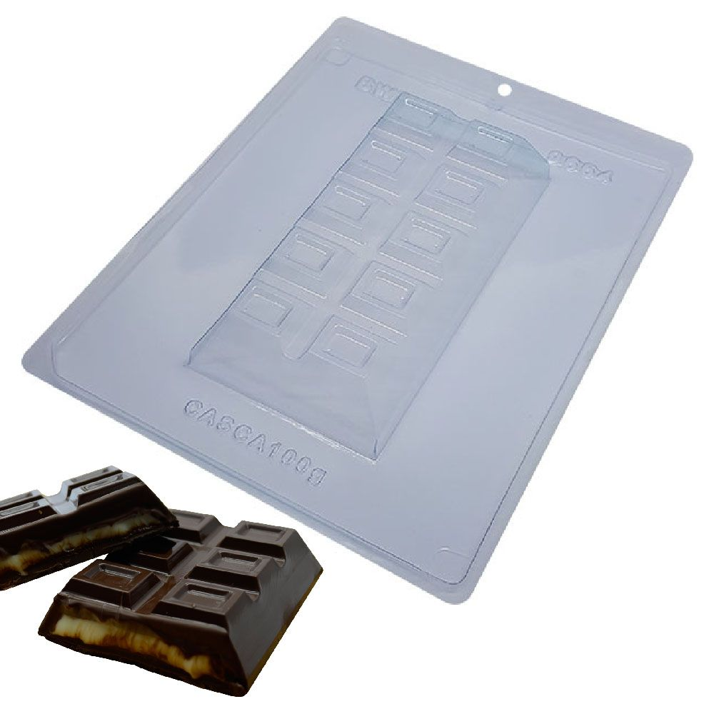 Forma de Chocolate em Acetato com Silicone  Tablete/Barra Chocolate Especial 300g - BWB