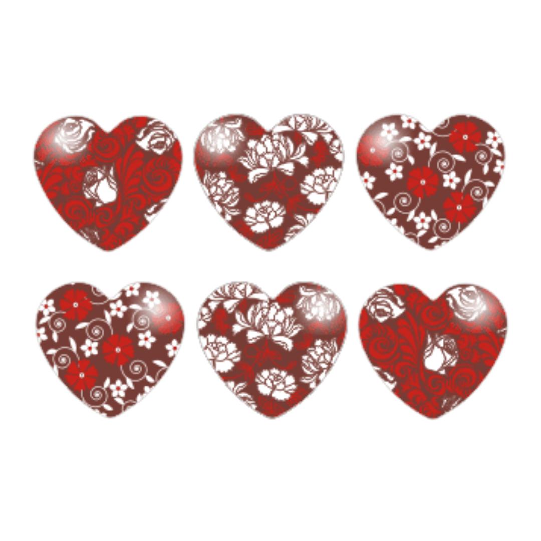 Blister Coração Rosas (21uni)
