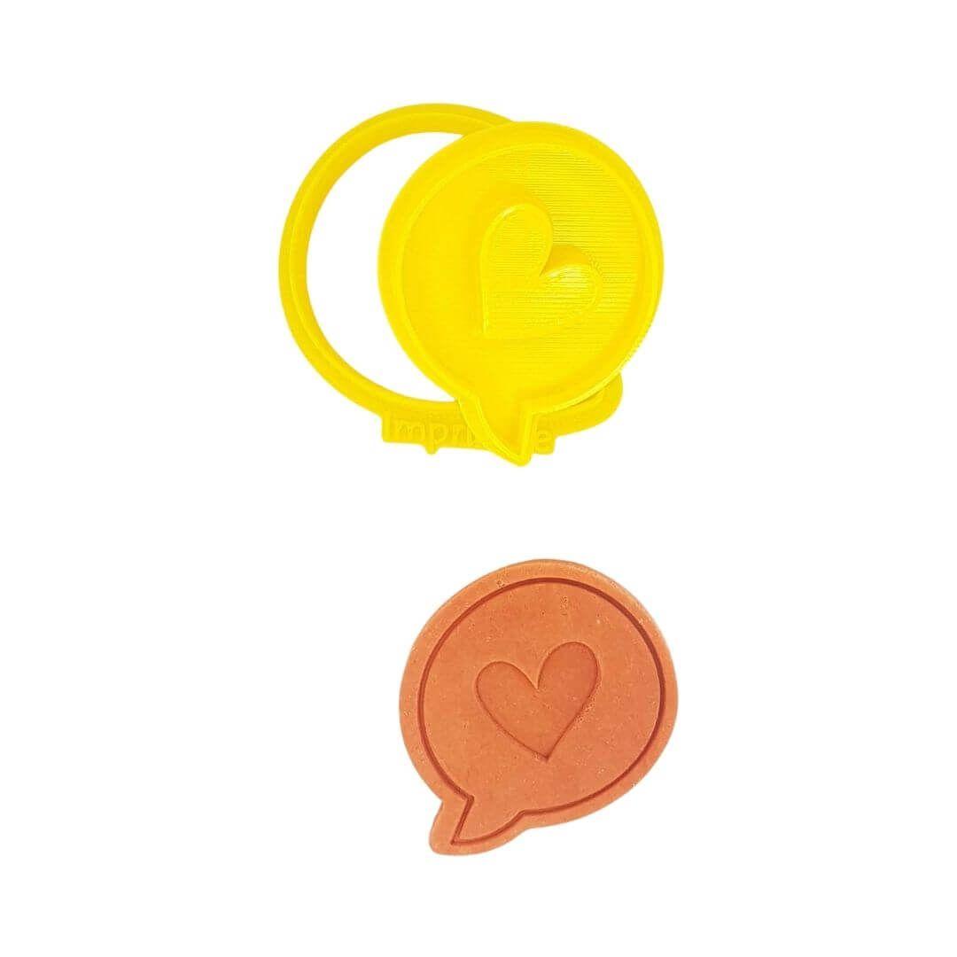 Cortador Balão Coração - Imprimire 3D