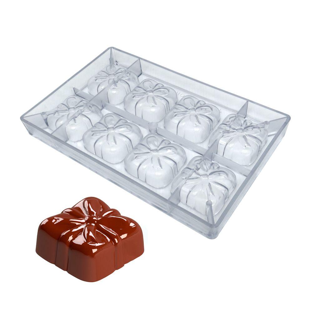 Forma de Chocolate em Policarbonato Pão de Mel Presente - Gramado Injetados