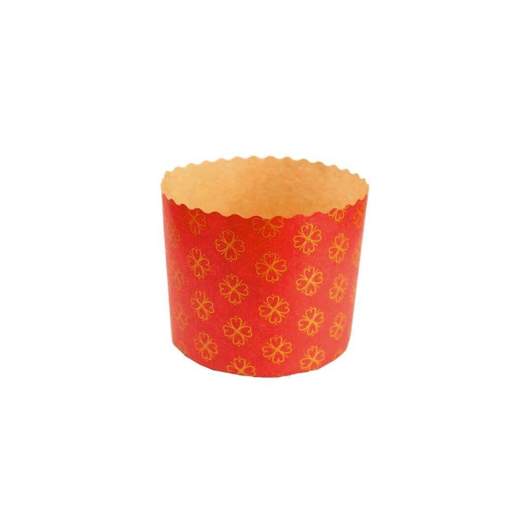 Forma para Panetone 100g Vermelho (12uni) - Sulformas