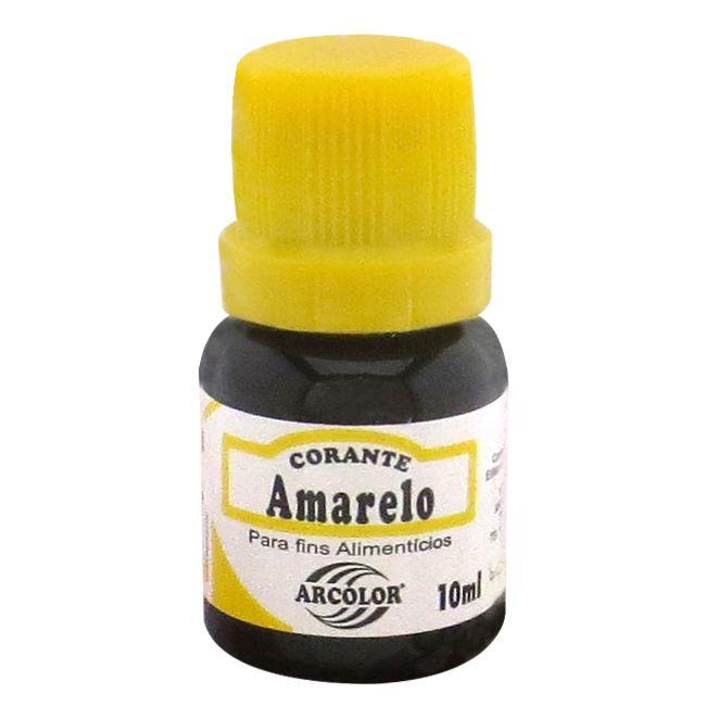 Corante líquido Arcolor 10ml - Amarelo