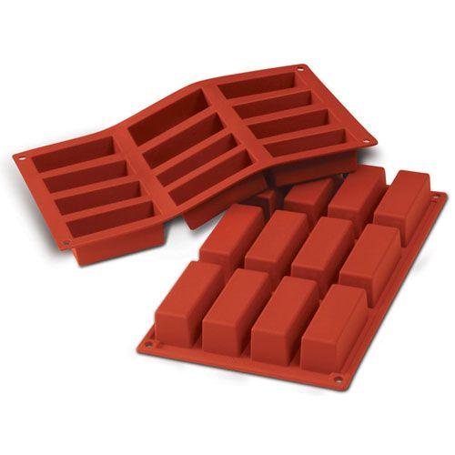 Forma de Silicone Barra Retangular Cakes - Silikomart