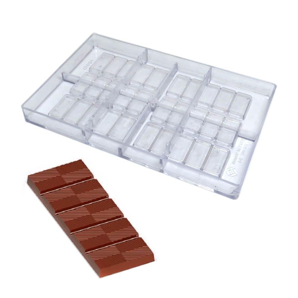 Forma de Chocolate em Policarbonato Tablete/Barra 30g - Gramado Injetados