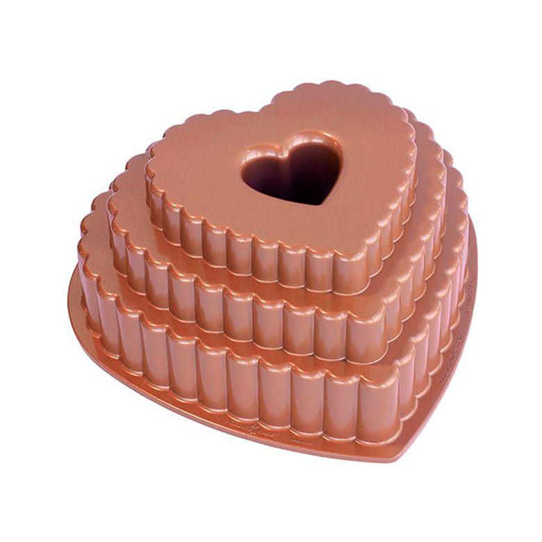 Forma para Bolo Bundt Andares de Coração - Nordic Ware