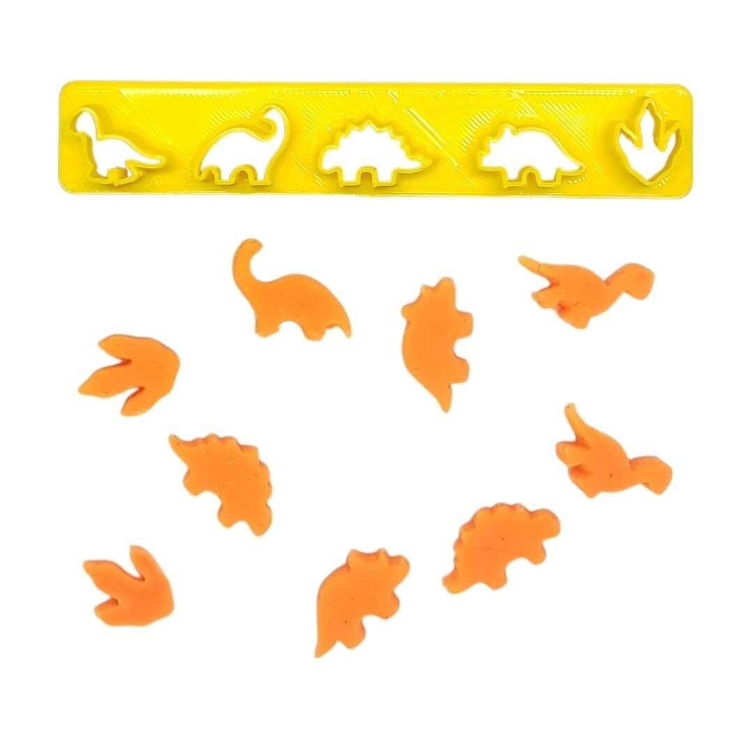 Régua Cortadores Miniatura Mix Dinossauros - Imprimire 3D