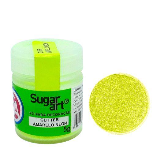 Glitter em Pó para Decoração Amarelo Neon (5g) - SugarArt