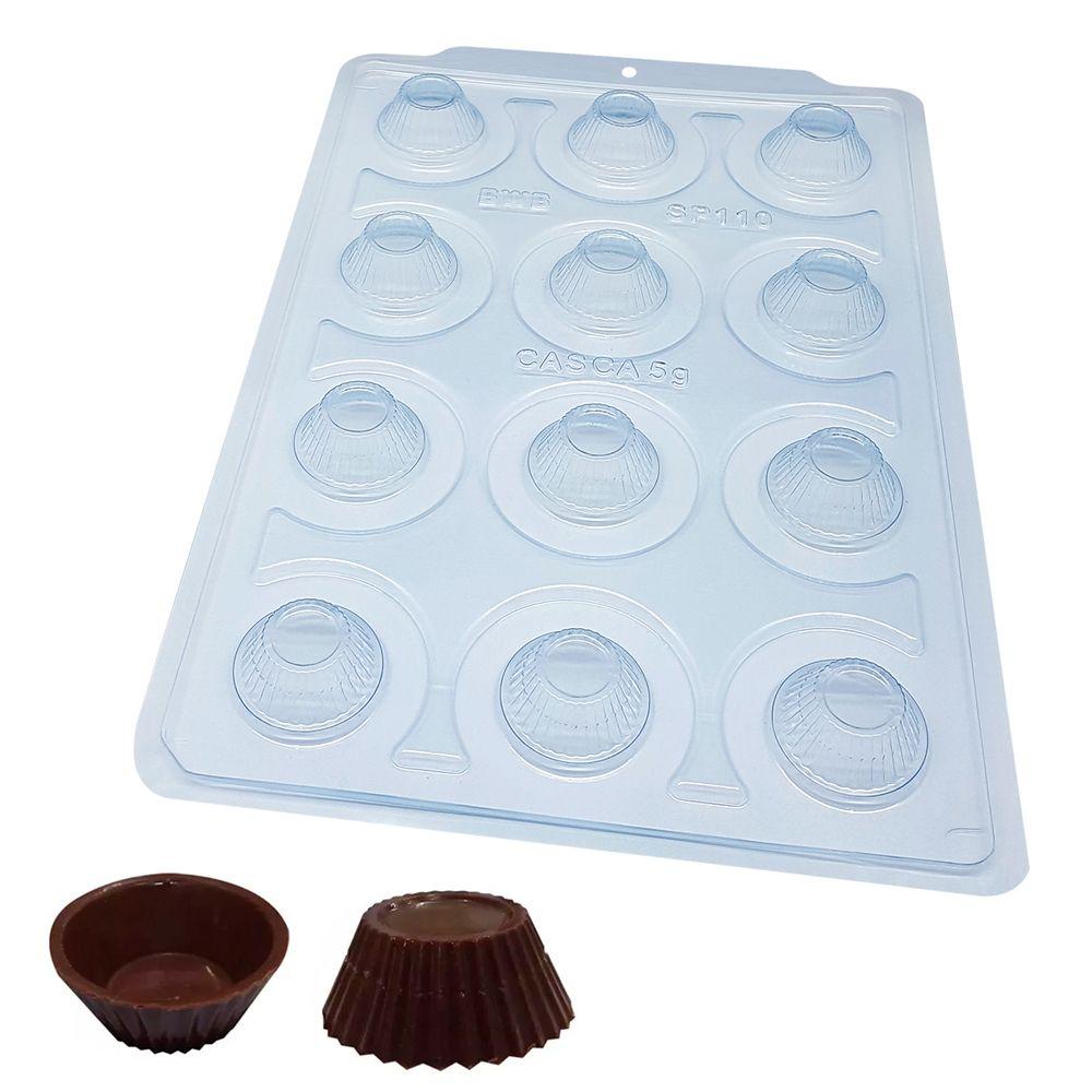 Forma de Chocolate Acetato com Silicone Mini Cupcake - BWB Premium
